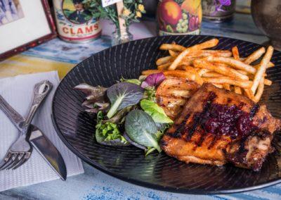 Chicken Steak w Cranberry Sauce