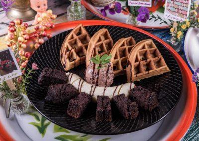 Chocolate Brownie & Banana Waffle